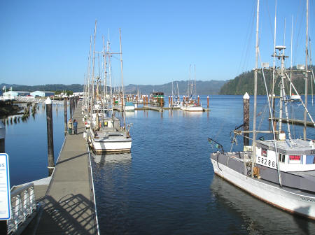 Harbor in Florence Oregon